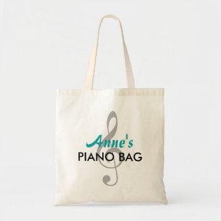 Custom Name Piano Bag - Teal