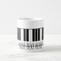 Custom Name Piano Keys Keyboard Teacher Student Coffee Mug at Zazzle