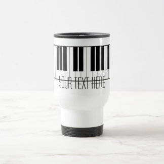 Custom Name Piano Keys Keyboard Teacher Student Travel Mug