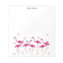 Custom Name Pink Flamingos Notepad