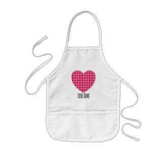 Custom Name Pink Heart Apron