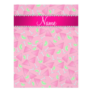 """Custom name pink on pink cosmos limes 8.5"""" x 11"""" flyer"""