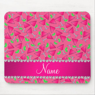 Custom name pink on pink cosmos limes mouse pad