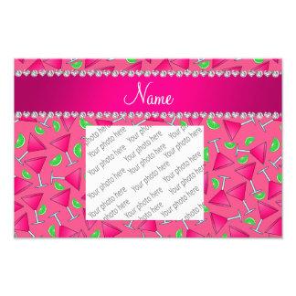 Custom name pink on pink cosmos limes photo print