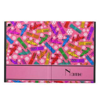 Custom name pink rainbow bobsleigh snowflakes powis iPad air 2 case