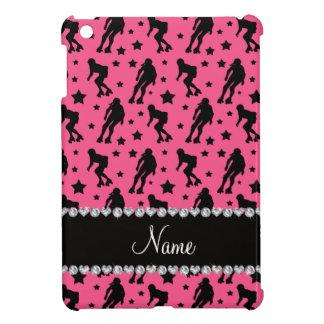 Custom name pink roller derby stars iPad mini cases