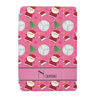 Custom name pink volleyball christmas pattern iPad mini cover