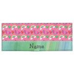 Custom name pink watermelons rainbows hearts tyvek® billfold wallet