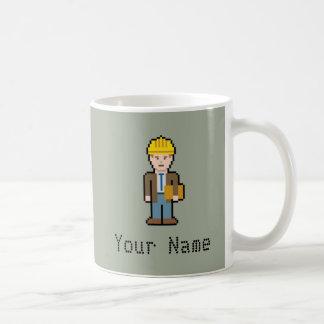 Custom Name Pixel Architect Coffee Mug