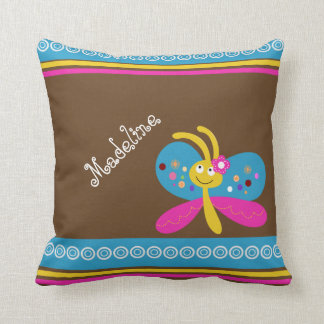 Custom Name Pretty Butterfly Throw Pillow