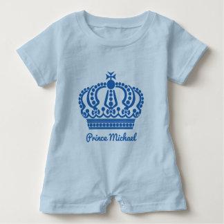 "Custom name ""Prince"" clothing Baby Romper"