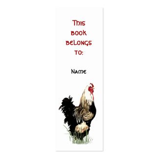 Custom Name Proud Farm Rooster Bookmark Business Card Template