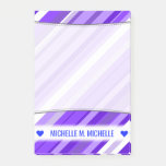 [ Thumbnail: Custom Name; Purple and White Striped Pattern Notes ]
