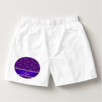 Custom name purple dachshunds hearts paws boxers