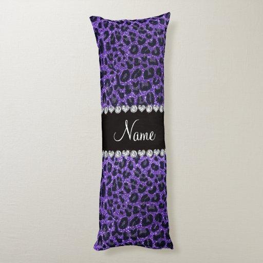 custom name purple glitter leopard spots body pillow zazzle. Black Bedroom Furniture Sets. Home Design Ideas