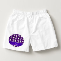 Custom name purple penguins igloos snowflakes boxers