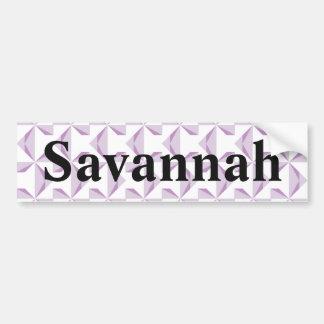 Custom Name Purple Pinwheels Bumper Sticker