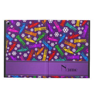 Custom name purple rainbow bobsleigh snowflakes powis iPad air 2 case
