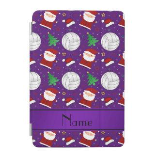 Custom name purple volleyball christmas pattern iPad mini cover