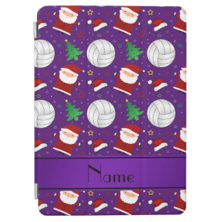 Custom name purple volleyball christmas pattern iPad air cover