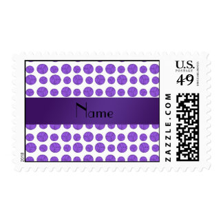 Custom name purple volleyball pattern stamps