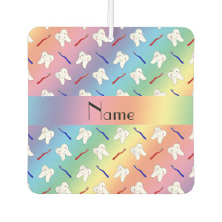 Custom name rainbow brushes and tooth pattern