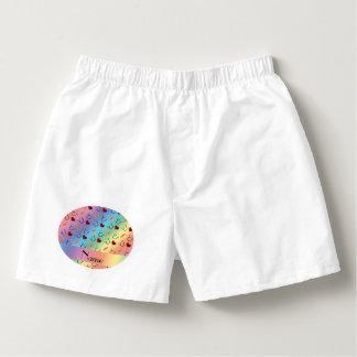 Custom name rainbow stethoscope bandage heart boxers