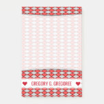 [ Thumbnail: Custom Name; Red and Gray Diamond Shape Pattern Notes ]
