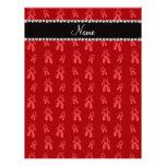 Custom name red ballet shoes letterhead