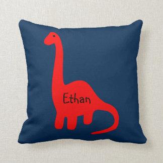 """Custom Name """"Red Dinosaur"""" Pillow"""