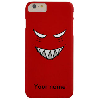 Custom Name Red Evil Grin Barely There iPhone 6 Plus Case