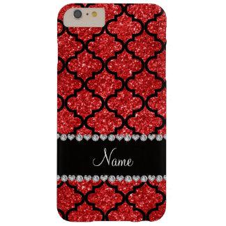 Custom name red glitter moroccan iPhone 6 plus case