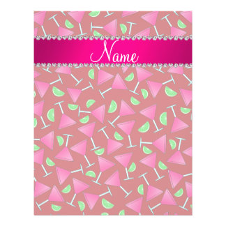 """Custom name red pink cosmos limes 8.5"""" x 11"""" flyer"""