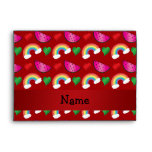 Custom name red watermelons rainbows hearts envelopes