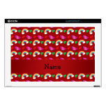 Custom name red watermelons rainbows hearts skins for laptops