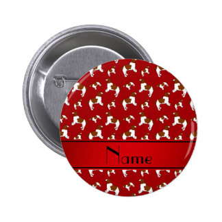 Custom name red Welsh Springer Spaniel dogs 2 Inch Round Button