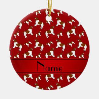 Custom name red Welsh Springer Spaniel dogs Ceramic Ornament
