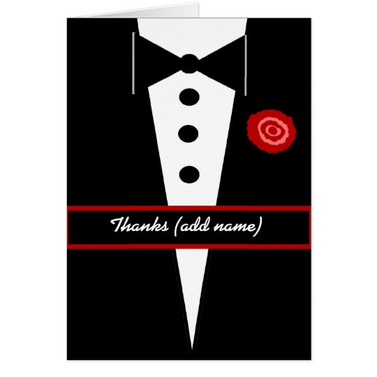 CUSTOM NAME Ring Bearer Wedding Thank You Card
