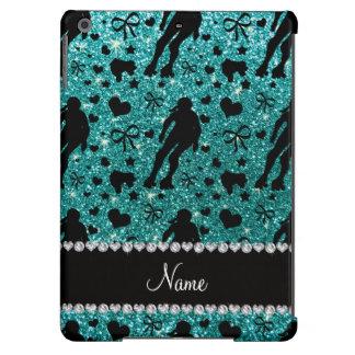 Custom name robin egg blue glitter roller derby iPad air cases