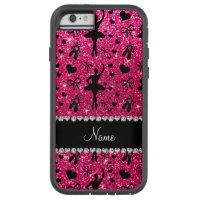Custom name rose pink glitter ballerinas