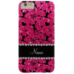 Custom name rose pink glitter cheerleading barely there iPhone 6 plus case