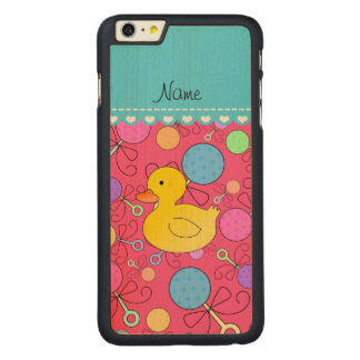 Custom name rubber duck pink baby rattles carved® maple iPhone 6 plus slim case