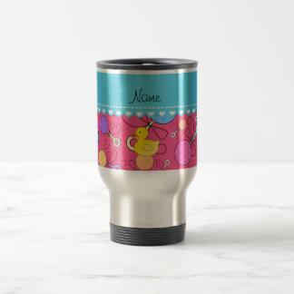Custom name rubber duck pink baby rattles coffee mugs