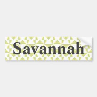 Custom Name Sage Pinwheels Bumper Sticker