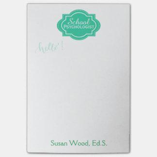 Custom Name School Psychologist Memo Note Pad Post-it® Notes