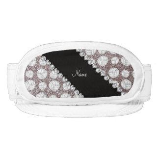 Custom name silver glitter volleyballs visors