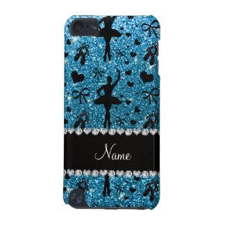 Custom name sky blue glitter ballerinas iPod touch 5G cover