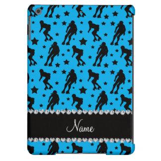 Custom name sky blue roller derby stars cover for iPad air