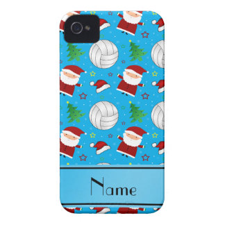 Custom name sky blue volleyball christmas pattern iPhone 4 cover