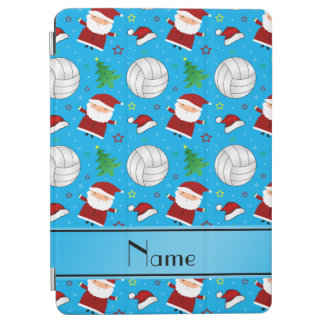 Custom name sky blue volleyball christmas pattern iPad air cover